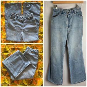 Rare Vintage 70s Levi's Orange Tag Flare Jeans-27